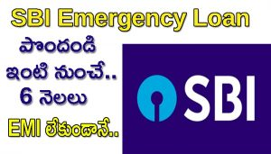 SBI Emergency Loan