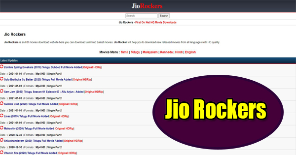 Jiorockers Telugu movies download 2020
