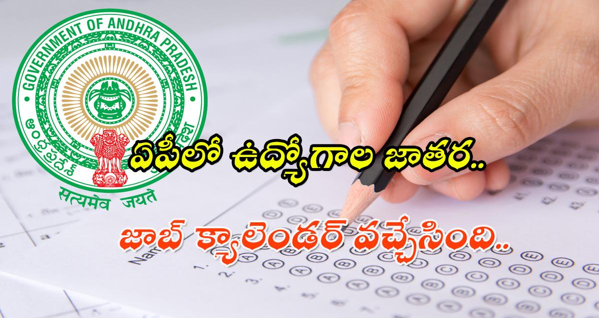 Andhra Pradesh Job calender 2021-22