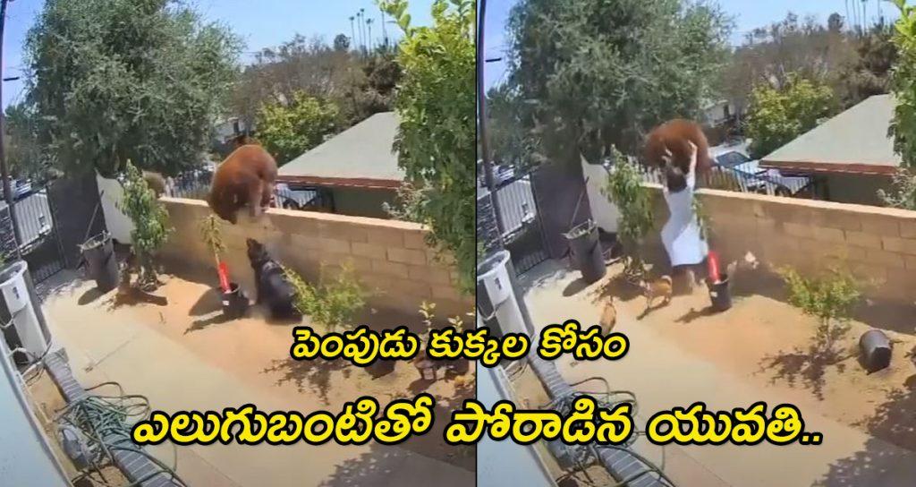 Teen pushes away bear on top